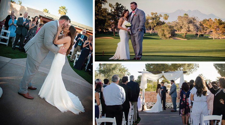 Pro Football Player Has Wedding at Ocotillo Golf Club