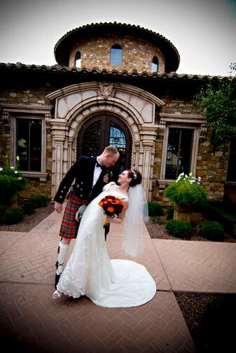 Villa Siena Wedding in Traditional Scottish Kilt