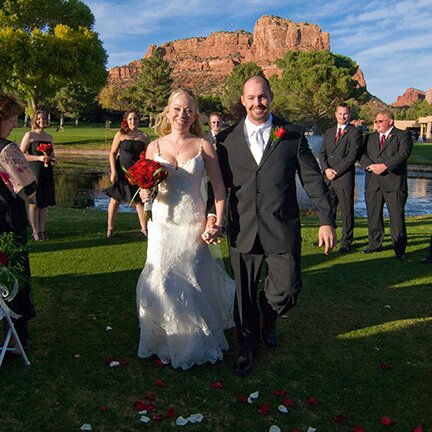 Bride and Groom Walking | Sedona | Mountain | Instagram Link