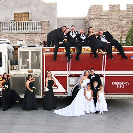Bridal Party Fire Engine | Chandler Arizona | Instagram Link