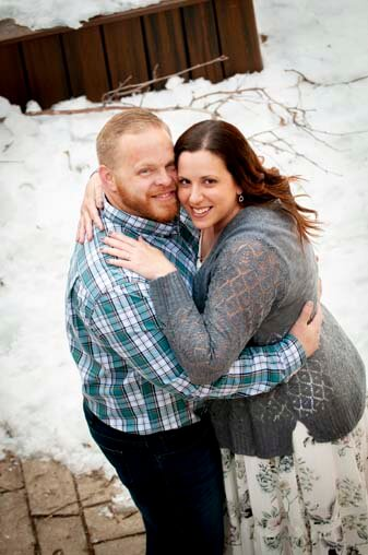 Photographer Sedona Engagement Snow