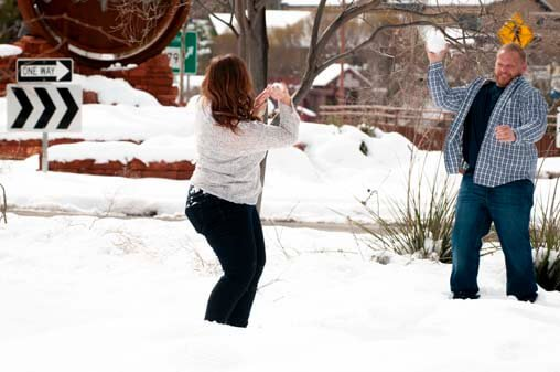 Engagement Portraits Snow Sedona